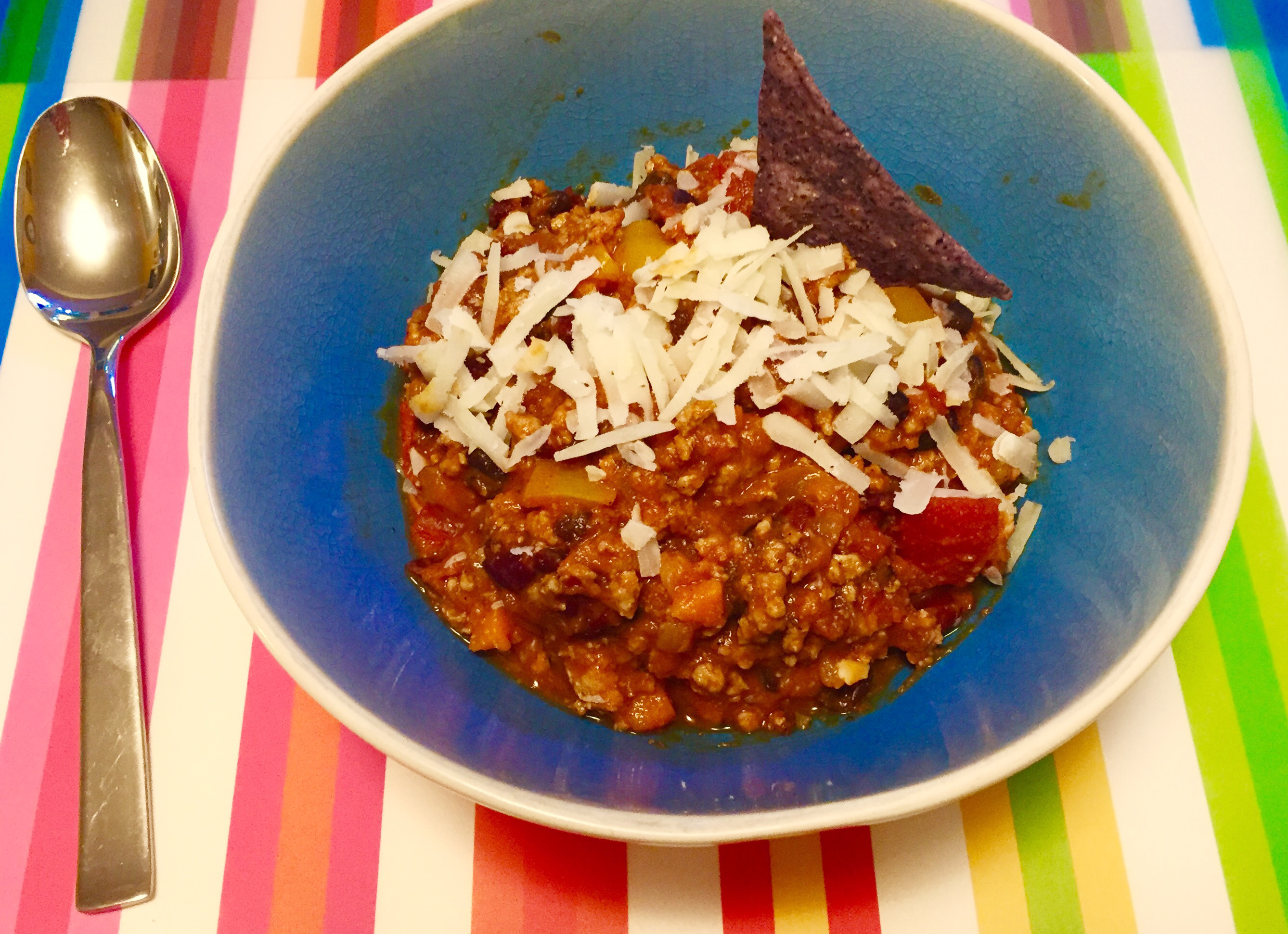 Week Night Ground Turkey Chili